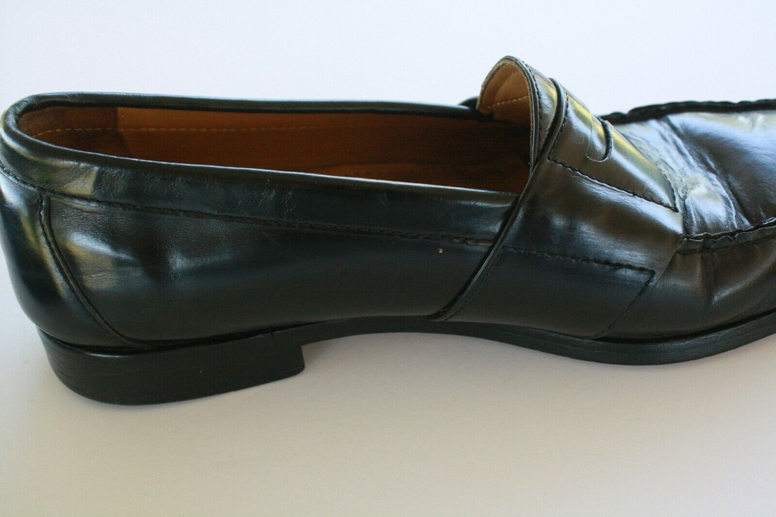 Cole Haan Men's Black Leather Slip On Casual Penny Loafers Size 8.5 M EUC image 3