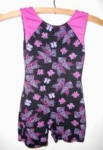 Moret Gymnastics Dance Leotard Unitard CXS Child X-Small Bows Purple Bla... - $15.20
