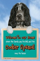 BLUE ROAN COCKER SPANIEL SIGN WELCOME SIGN AMAZING 3D  Christmas stockin... - $4.84