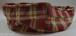 Longabrger 2001 Large Easter Basket Liner Plaid Collectible Accessory Fabric - $13.99