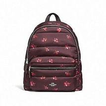 Coach Floral Puffer Quilted Charlie Nylon Backpack Bag - $135.99