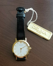Delma ladies vintage watch SWISSMADE Quartz Movement Gold Plated Leather Band - $299.00