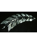 """Vintage """"CATHE"""" Signed Silver Tone Leaf Pin Brooch - $9.90"""