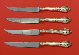 "Vivaldi by Alvin Sterling Silver Steak Knife Set 4pc HHWS  Custom Made 8 1/2"" - $247.10"