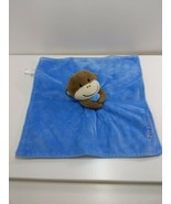 Magic Years I Love Mommy Lovey Security Blanket Plush Monkey Blue Rattle - $19.59