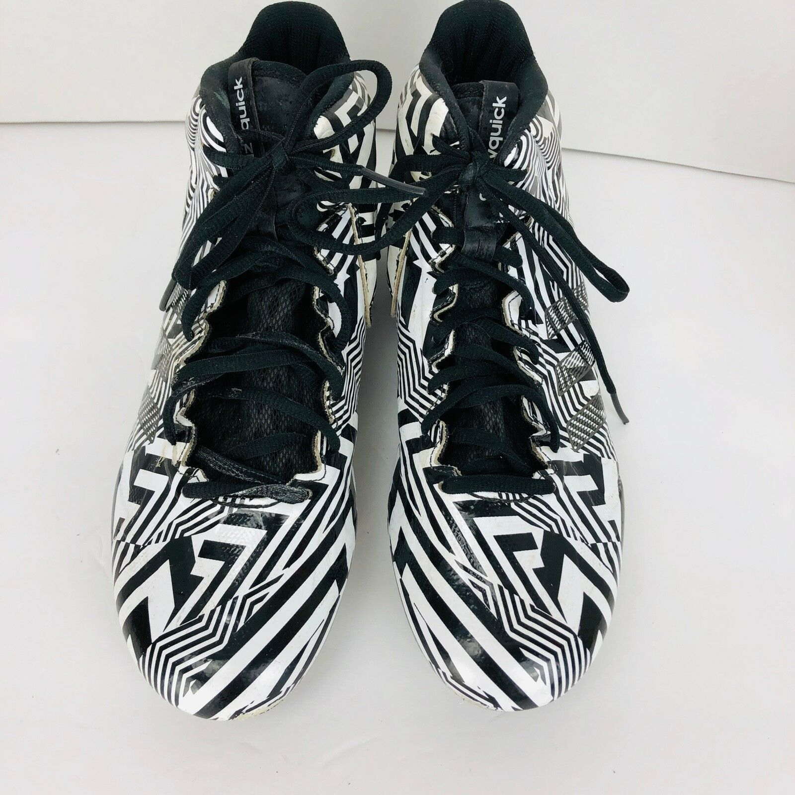 best sneakers 22f1f 2d3e8 ADIDAS Mens Football Soccer Cleats Black White Size US 9 CLU 600001  Crazyquick