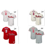 Men's Philadelphia Phillies #3 Bryce Harper MLB 150th Flex Base Series J... - $40.99