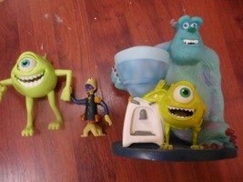 "DISNEY PIXAR MONSTERS INC. SULLY & MIKE @ water cooler 9""+ 2 figures bob... - $9.98"