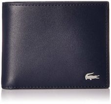 Lacoste Premium Men's FG Small Billfold Wallet Credit Card Holder NH1994FG image 8