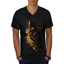 Warrior Ninja Fantasy Shirt Dark Arrow Men V-Neck T-shirt - $12.99+