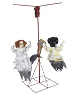 "Ghostly Go Rounds 3 Dolls Animated LifeSize 6 ft Haunted House Prop ""FAST SHIP"" - $179.99"