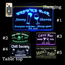 Personalized Custom Bar Sign, Man Cave Sign, LED Neon - $96.03+