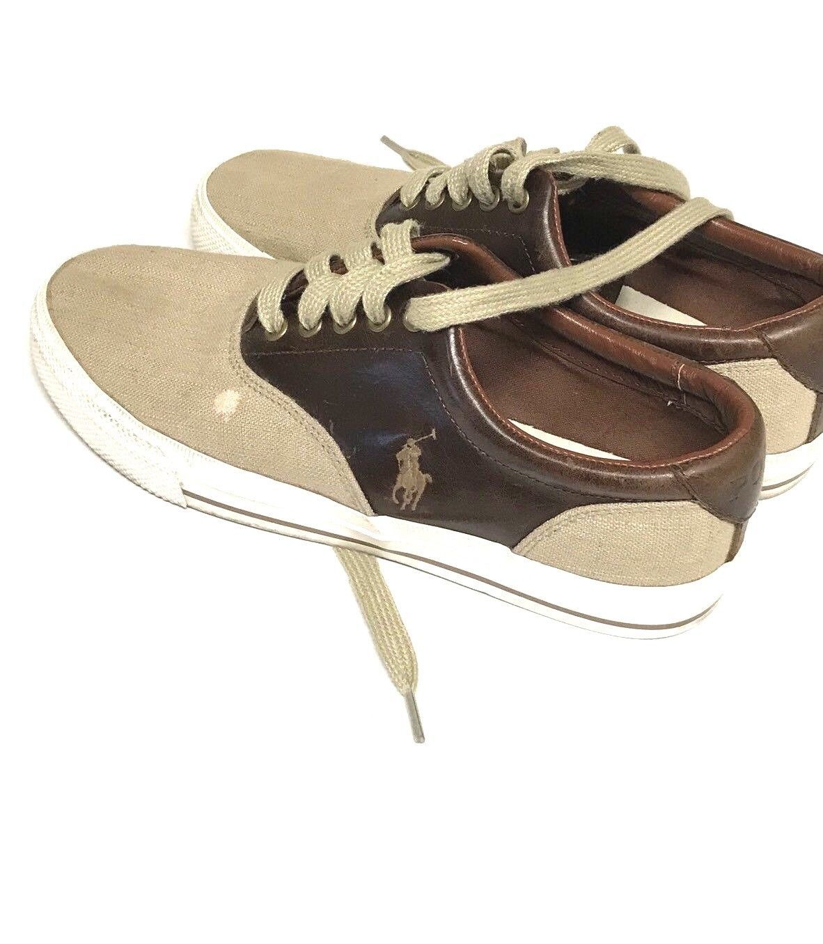 Polo Ralph Lauren Vaughn Canvas/Leather Sneakers Shoes