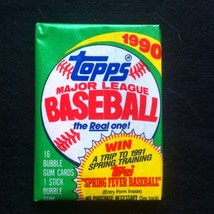 1990 Topps Baseball Wax Pack of Cards!  Mint and Sealed! - $3.75