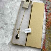 "NWT Anthropologie Teardrop Locket Charm Plus 30"" Gold Chain Necklace - $48.99"