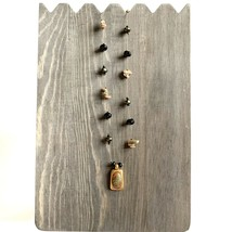 """Chico's Beaded Chip Necklace Pendant Wire Earth Tones 16"""" with Extender ... - $11.30"""