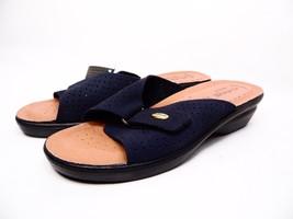 Flexus Kea Leather Slide Sandals Navy Size 40 (US :9) - $53.20
