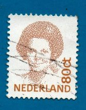 Used Netherlands Postage Stamp 1982 Queen Beatrix - New Values  Scott #774A - $1.99
