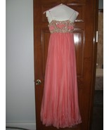 MARCHESA Peach  Evening Gown Grecian Babydoll ... - $1,377.00