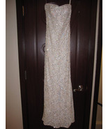 EMANUEL UNGARO White Beaded Formal Gown  $8990 ... - $1,700.00