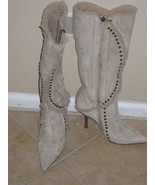 Jimmy Choo Shearling Bone Kid Boot Sz 36.5 - $900.00