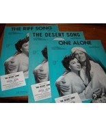 Vintage Sheet Music from The Desert Song  - $14.00