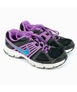 Nike Women's Air Downshifter 5 Running Shoes Size 8 Black Purple Turquiose - $23.09