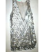 New Womens 10 NWT Matthew Williamson Designer Dress Silver Sequin Bead S... - $1,396.00
