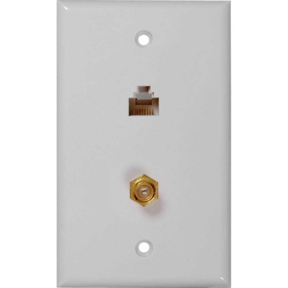 Primary image for RCA TPH557R CAT-5E/6 F and Coaxial Connector Wall Plate