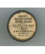 Baker's silver polish vintage sample advertising tin King Eisele Co Buffalo - $29.00