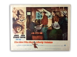 """THE MAN WHO SHOT LIBERTY VALANCE"" ORIGINAL 11X14 AUTHENTIC LOBBY CARD 1962 - $89.96"