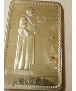 1973 Columbus Mint Thanksgiving Turkey Nickel Metal Art Bar Bullion 1871 - $11.09