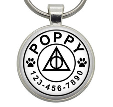 Pet ID Tag - Deathly Hallows (Harry Potter) - Dog ID Tags, Cat ID Tags, ... - $19.99