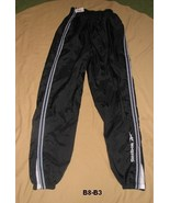 Reebok Black polyester, mesh lined Wind Pants Sz Large - $9.99