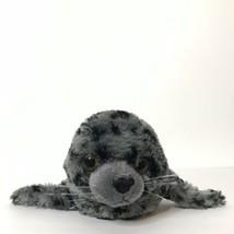 "Wildlife Artists Seal Pup Plush Stuffed Animal 14"" Long Gray Black 2011 - $21.78"