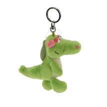 NICI Crocodile Alligator Key Chain Stuffed Toy Beanbag Key Ring 4 inches 10 cm - $11.00
