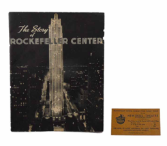 Rockefeller Center Guided Tour 1940s Guest Ticket Newsreel Theater New York - $45.90