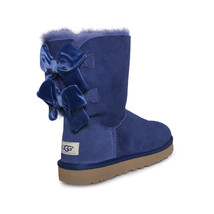 UGG BAILEY BOW II VELVET RIBBON SKY BLUE SUEDE SHEEPSKIN BOOTS SIZE US 7... - $147.25