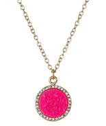 Kate Spade New York Necklace Pave Glitter Druzy Disk NEW - $47.52