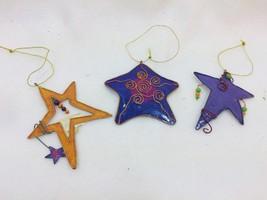 Encore Group Metal Christmas Ornaments Stars Beaded 25661 - $11.72