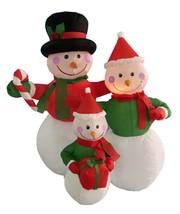 Northlight 4' Inflatable Snowman Family Lighted Christmas Yard Art Decor... - €64,02 EUR