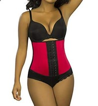 Red Sports Latex Waist Trainer Short Torso  - $52.00