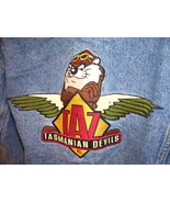 Acme Looney Tunes Taz Tasmanian Devils MC Denim Jacket Adult M Harley Buttons - $15.00