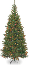 Artificial Christmas Tree 7-Ft Aspen Spruce 400 Multicolor Lights Green ... - $142.35