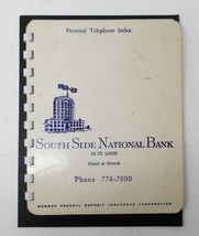 South Side National Bank St. Louis Personal Phone Index Advertising 1971... - $6.92