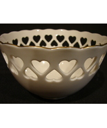 "Vintage 1989 LENOX Pierced Heart Bowl~""The Heart Collection""~Retired Len... - $12.00"