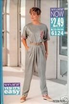 Butterick 6124 Misses' Top & Pants - $3.99