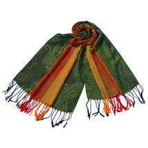 Multi-Colors Rose & Paisley Soft Tassel Ends Pashmina - $12.99