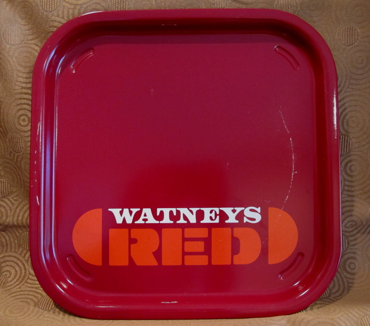 WATNEYS RED Beer Tray British Souvenir Collector Collectible Vintage Barrel