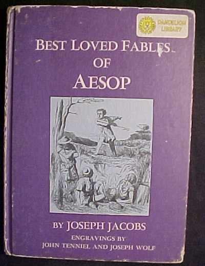 4) DANDELION BOOKS-UNCLE WIGGILY,TOM THUMB,AESOP,JOHNNY CROW,FAIRY TALES,RHYMES
